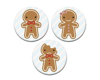 Cookie Cute - Kawaii Gingerbread Badge Set