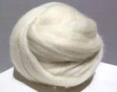 Ecru Merino Roving, Needle Felting Spinning Fiber, Off White, Eggshell Merino wool, ecru felting wool, off white Merino