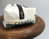 Repurposed Canadian Mint money bag- toiletry bag