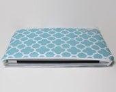 """Women's Laptop Computer Case Fit for 11""""-15"""" MacBooks, Chromebooks, 12"""" New MacBook Laptop Sleeve - Quatrefoil Aqua"""