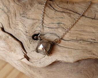 Cushion/Oval Rose Cut Diamond Necklace - Deposit