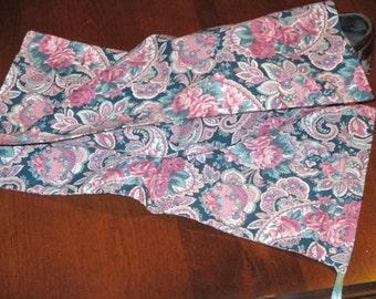 Paisley print shoe bags