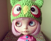 hootie cutie Spring green owl hat for blythe