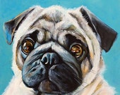 "SALE!  Custom Pet Portrait 8""x10"" Acrylic"