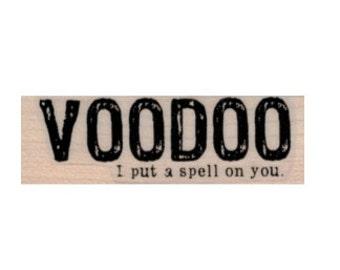 Halloween quote Rubber stamp stamps stamping VooDoo spells  19733