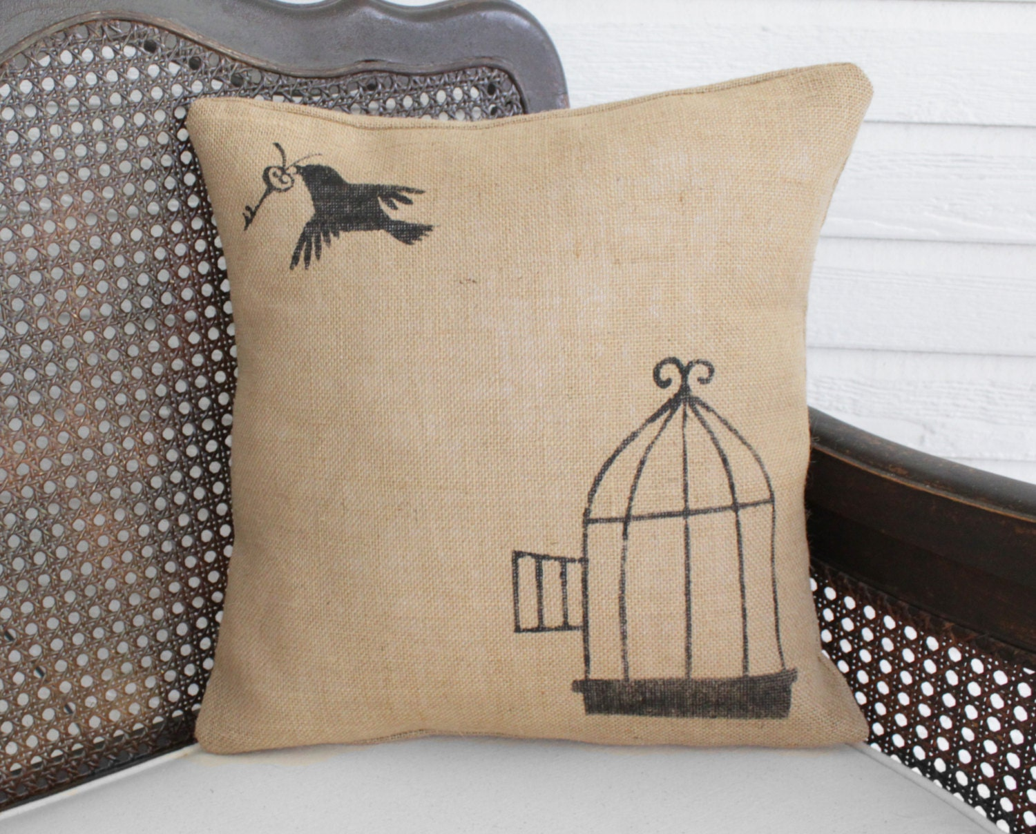 Free To Fly  Burlap Pillow  Bird Cage And Skeleton Key. Decorative Gate Hinges. Living Room Sofa Ideas. Soccer Room Decor. Room Dividing Shelves. Decorate Your Own House Games. Rental Decorations For Wedding Receptions. Decorating New Home. Outdoor Wedding Reception Decorations