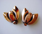 Lovely Pair of Vintage Renoir Copper Earrings