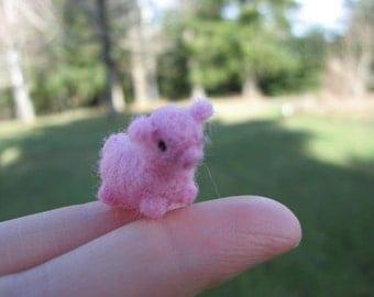 Needle Felted Pig Tiny Miniature Animal