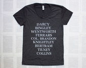 Jane's Men - Women's T-shirt - characters from Jane Austen's novels - S, M, L, XL, 2XL - women's and unisex sizes