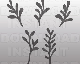 Leaf svg,Vines svg,Branches svg File-Cutting Template-Vector Clip Art for Commercial & Personal Use-Download-Cricut,Cameo,Explore,Silhouette