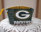 Clutch Cosmetic Bag  Purse Green Bay Packer Made in USA Essential Oils Case