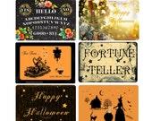 Halloween Magic - Assorted 6 Postcard Medley