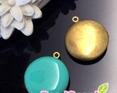 CH-EX-08146ER-   Nickel-free, Color epoxy,  Round locket (S), erinite, 2 pcs