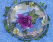 10 Hydrangea Ivy Lily Bowl Rings Wreaths, floating candle wreath, hydrangea ivy fairy circle lavender
