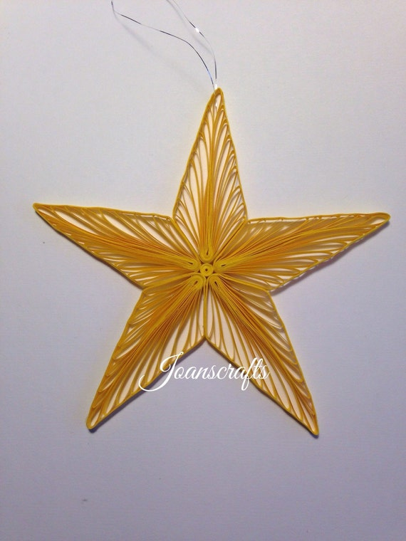 Bright Star Ornament in Quilling