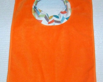 Towel Bib by PETUNIAS - absorbent washable dryable buffalo organic knit baby toddler gift