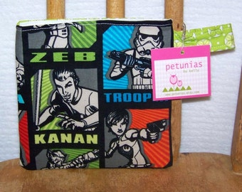 Reusable Little Snack Bag - pouch adults kids Star Wars eco friendly by PETUNIAS