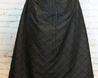 Black Pintuck  Swagger Skirt-Adjustable and Versatile