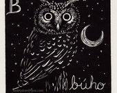 Owl - B is for búho span...