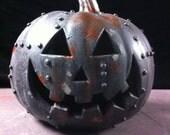 Steampunkin Steampunk  Black Rusted Metal Pumpkin Halloween  Pumpkin Sculpture 4
