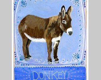 Animal Totem Print - Donkey