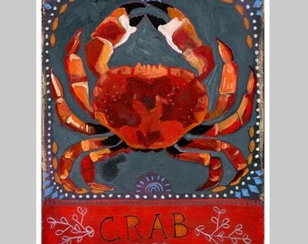 Animal Totem Print - Crab