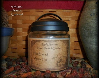 SALE Lot Of 2 Highly Scented Primitive Soy Hand Poured 16 OZ Jar Candle Black Rustic Lid