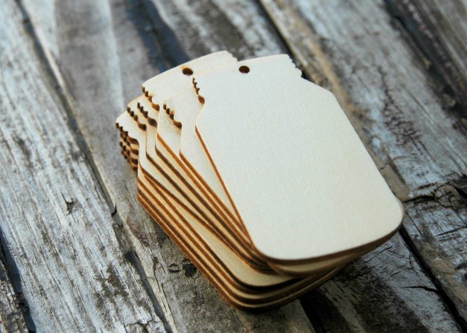 10 . Mason Jar Wedding Favors . Unfinished Wood Tags . Rustic ...