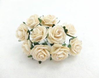 10 20mm ivory mulberry roses