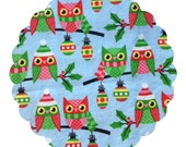Made to Order County Cloth Creations Cotton Topped Cloth Menstrual Pads ~you pick your size & absorbency~Holiday Glitter Owls
