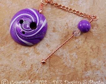 Purple Swirl Spinner's DIZ and Threader Set - No C6 - CONCAVE