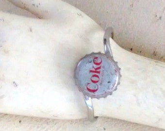Vintage Coke bracelet cuff bangle recycle industrial