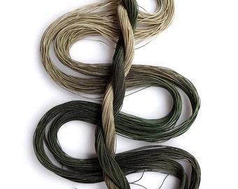 "Size 30 ""Adventurer"" hand dyed thread 6 cord cordonnet tatting crochet cotton"