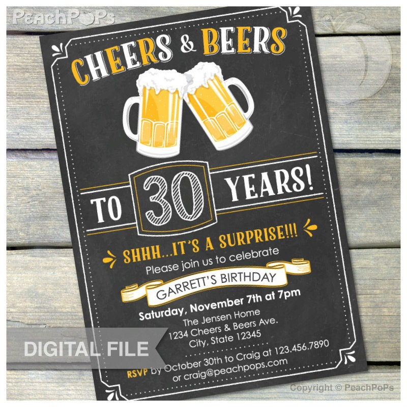 Surprise 30Th Birthday Invitations is an amazing ideas you had to choose for invitation design