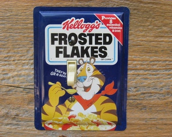 Light Switchplates Switch Cover Plate Plates Retro Wall Decor Kelloggs Frosted Flakes Cereal Tin Single Featuring Tony The Tiger SP-0135