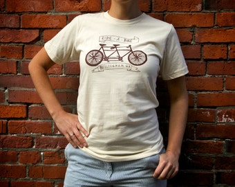 Womens Ride a Bike Tandem Tee Bellingham