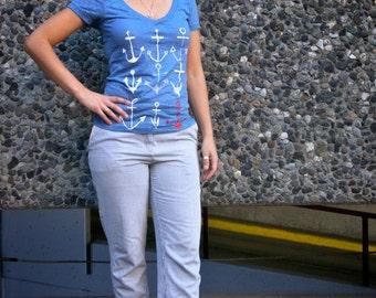 Anchor Nine Women's Burnout Tee