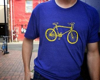 Cruiser Bike Men's Unisex Tri Blend Indigo Tee