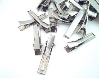 35mm Silver Alligator Clips Hair Clips Barrettes (Small), C59