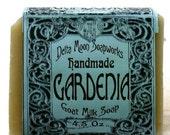 Soap - Handmade Gardenia Goat Milk Soap, Cold Process soap, olive oil soap, sensitive skin, gardenia soap, mild soap, honey soap
