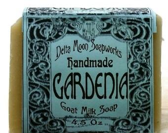 Handmade Gardenia Goat Milk Soap, Soap for sensitive skin, Cold Process soap, olive oil soap, gardenia soap, mild soap, honey soap, floral
