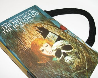 Book Purse Nancy Drew Message in the Hollow Oak Handbag Upcycled Book Bag  Vintage Book
