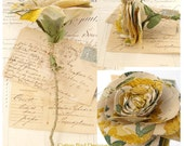 Cotton Flower Shabby Floral Vintage Home Decor Floral display  -Made to order