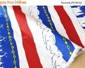 Japanese Fabric Polar Slide dobby - red, white, blue - 50cm