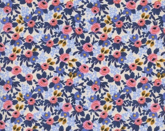 Cotton + Steel Les Fleurs - rosa - periwinkle - fat quarter