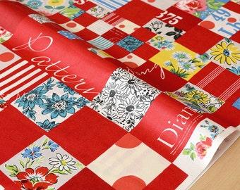 Japanese Fabric Suzuko Koseki - red - fat quarter