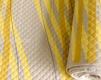Japanese Fabric Nani Iro Free Way AW quilted brushed cotton - A - 50cm