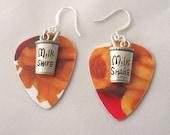 Curly French Fry Earrings Milk Shake Earrings Arby's Earrings Gift Card Guitar Pick Earrings Gift Ideas for Foodies Gift Ideas Girlfriends