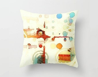 Abstract Watercolor Pillow Cover: The Quiet