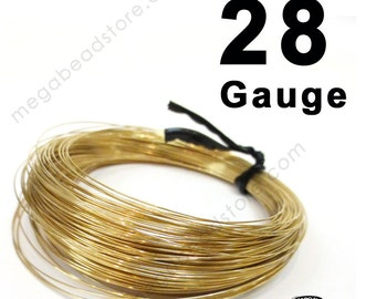 0.5 oz (72 ft) 28 Gauge 14K Gold Filled Wire GF Round Dead Soft DS